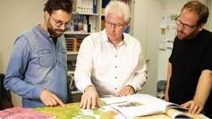 Prof. Dr. Peter Gautschi, Pädagogische Hochschule Luzern (Mitte); Robin Burgauer (links), Robbert van Rooden (rechts), Produzenten Inlusio Interactive Zürich.