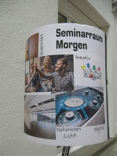 Plakat Seminarraum von Morgen