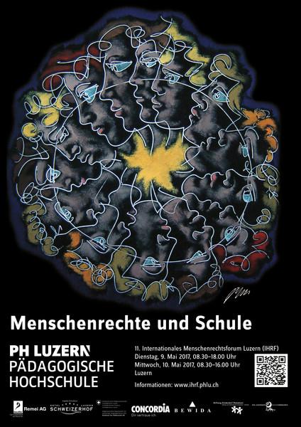 Plakat «Mesnchenrechte und Schule» des 11. IHRF
