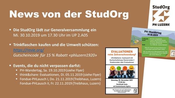 Eventfolie StudOrg Oktober 2019