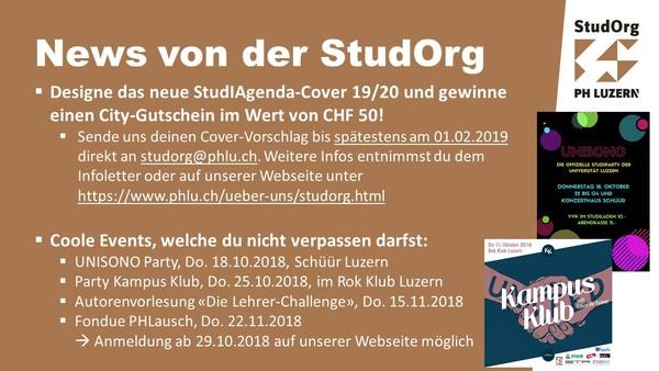 Eventfolie StudOrg Oktober 2018