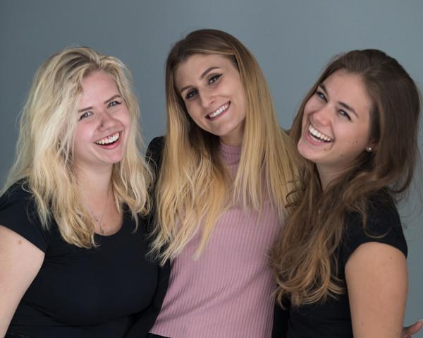 Die drei Lernenden, die 2018 ihre Lehre an der PH Luzern abgeschlossen haben.