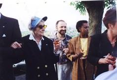Astrid Lindgren bei ihren Besuch in Luzern 1993.