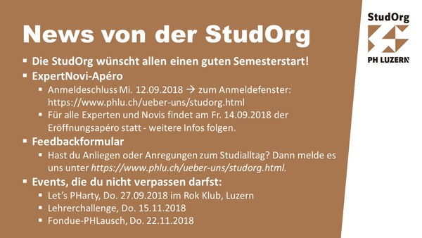 Eventfolie StudOrg September 2018