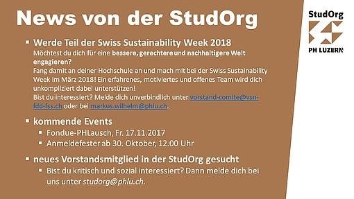 Eventfolie StudOrg November 2017